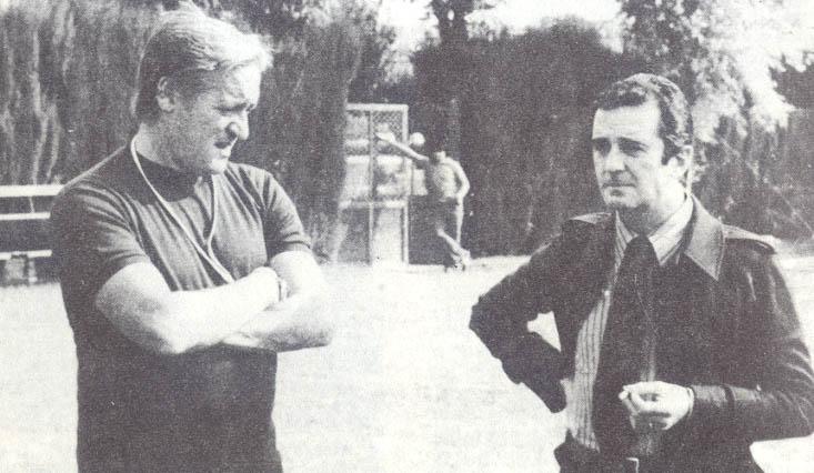 Il tecnico Liedholm con il presidente Anzolone