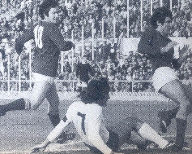 Sergio Santarini nel 1976/77 durante Torino-Roma