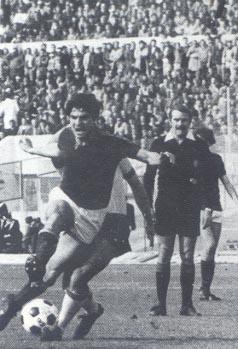 Roma-Verona 2-1, Di Bartolomei in azione