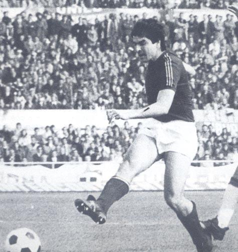 Roma-Verona 2-1, Di Bartolomei al tiro
