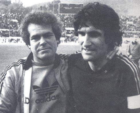 Roma-Verona 2-1, Giagnoni e Santarini, allenatore e capitano della Roma