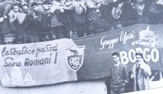 immagine dei tifosi della Roma negli anni 40